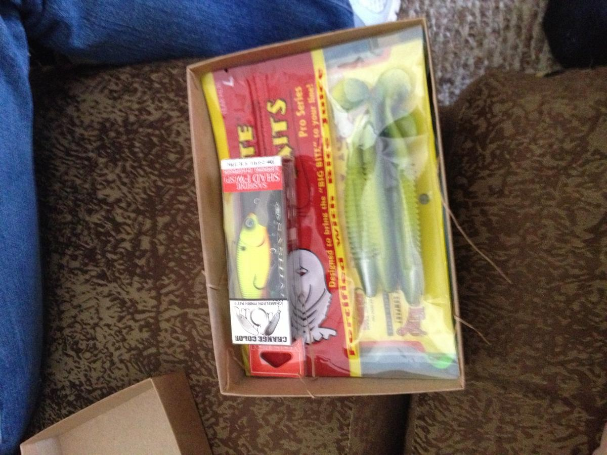 Got my first mystery tackle box fishing gear talk and for Monthly fishing box