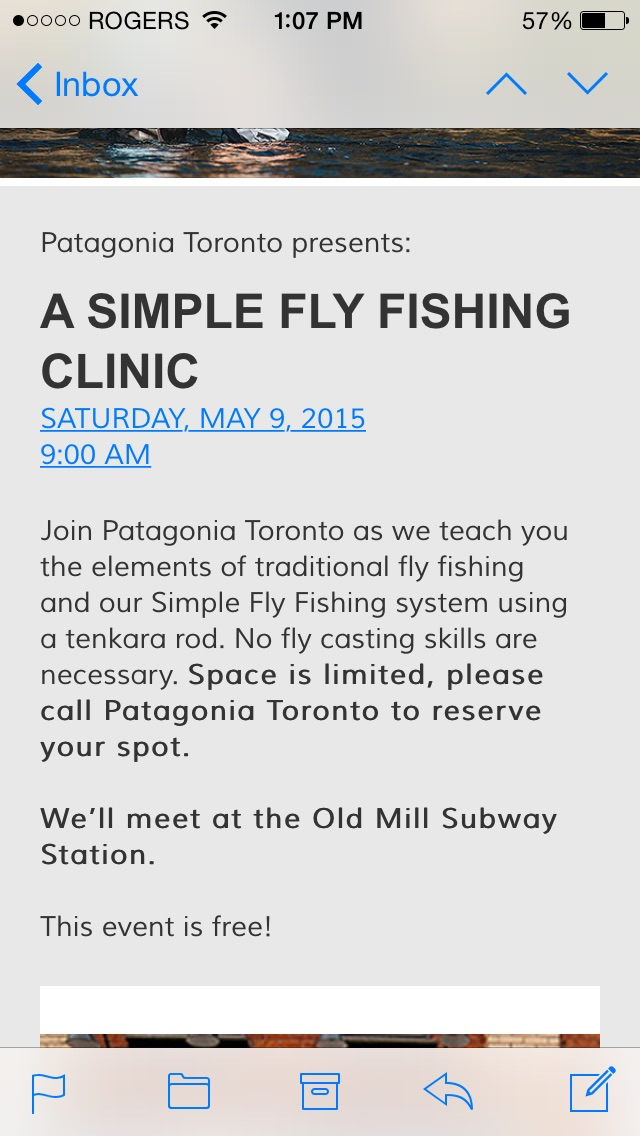 Patagonia toronto a simple fly fishing clinic may 9 for Simple fly fishing